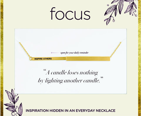 "FOC 23 ""Inspire Others"", Gold Focus Necklace"