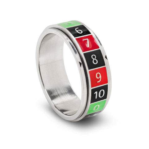 Lucky Spinner Ring, Roulette, Size 12