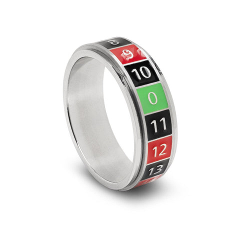 Lucky Spinner Ring, Roulette, Size 13