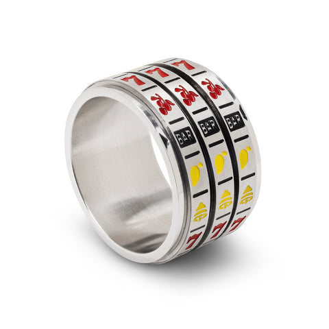 Lucky Spinner Ring, Slots, Size 8