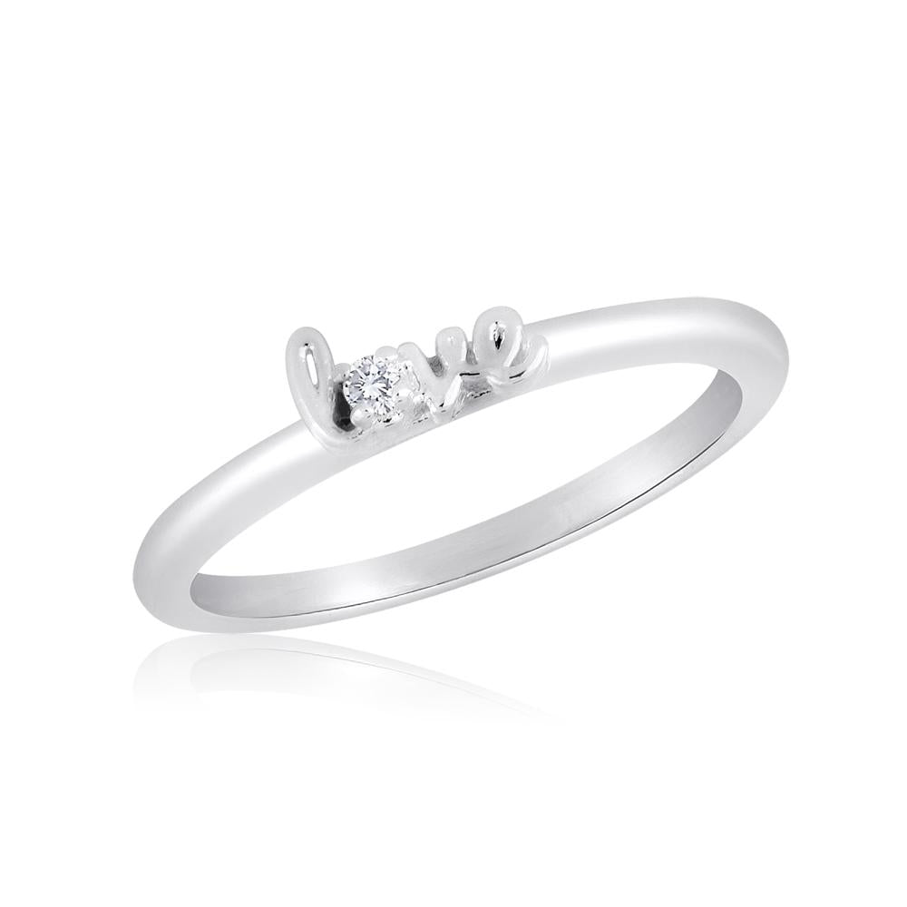 "STK23 [Size 6-9]  -  Stack Ring, ""Love"""