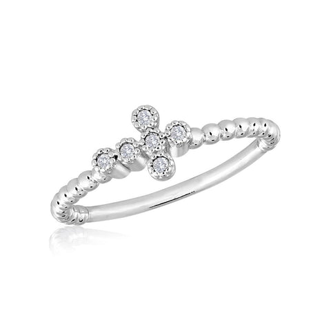 STK25 [Size 6-9]  -  Stack Ring, Cross