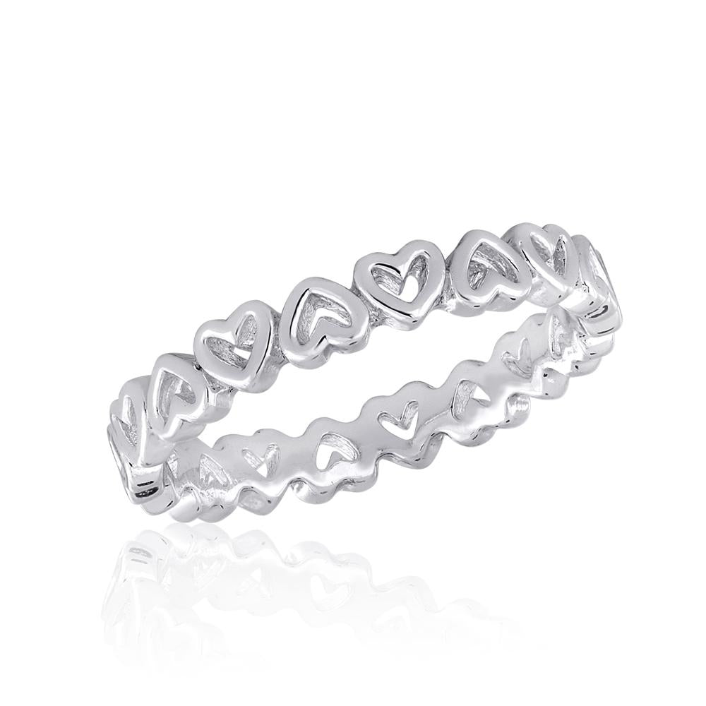 STK27 [Size 6-9]  -  Stack Ring,  Heart Band