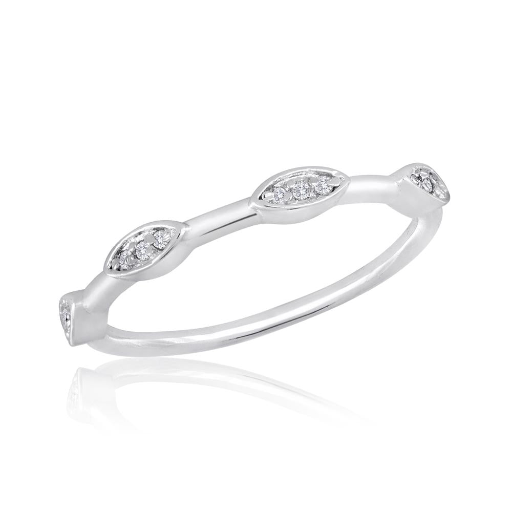 STK28 [Size 6-9]  -  Stack Ring, Spaced Oval