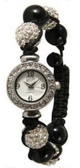 Fashion Watch, Shambhala Silver Black