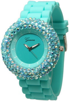 Fashion Watch, Fantasy Crystal/Aqua