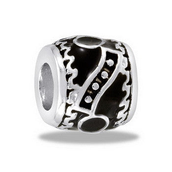 Bead, Black/Silver Abstract 2, Set/2