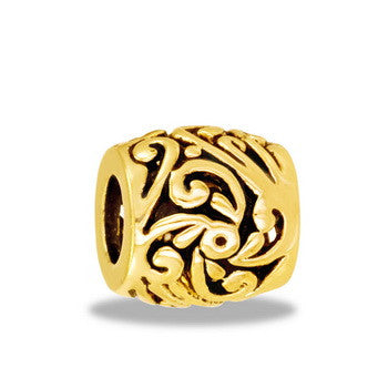 Barrel, Gold Filigree