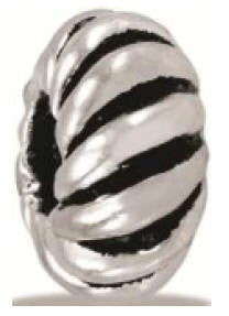 Bead, Bead, Silver Twist, Set/2