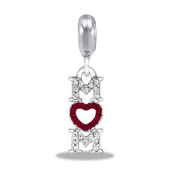 "Cubic Zirconia ""Mom"", Dangle, Set/2"