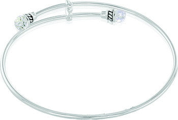 Bangle, Crystal End, Medium, Set/2