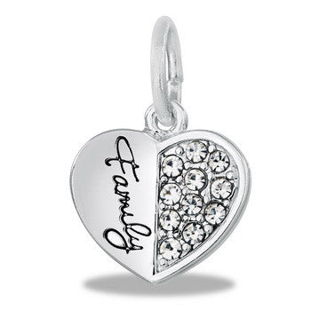 "Charm, Heart, ""Family"" Set/2"