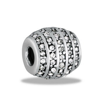 Spacer, Decorative CZ, Set/2