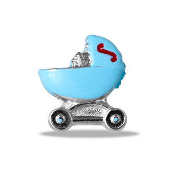 Charm, Baby Buggy Blue, SET/3