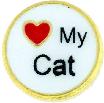 Charm 'I Love My Cat', Set/3