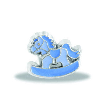 Charm, Blue Rocking Horse, Set/3