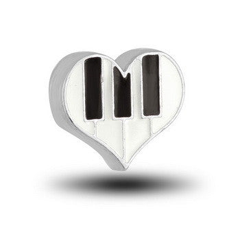 Charm, Piano Keys (Heart), Set/3