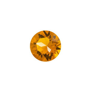 FH Charm, Orange Round CZ Crystal, Set/3