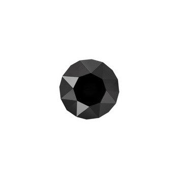FH Charm, Black Round CZ Crystal, Set/3