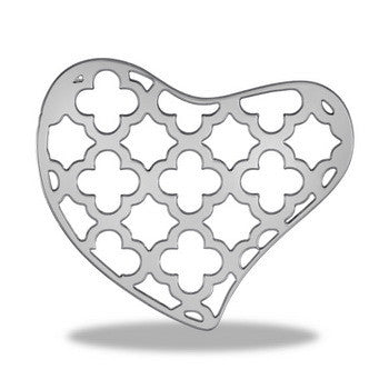 Disk, Decorative,Heart,St/2