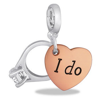 "Drop, Wedding Ring Duo (""I Do"") Drop, Set/2"