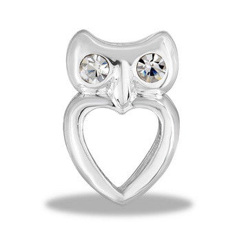 Large Charm, Silver Owl, Set/2