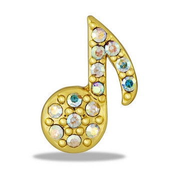 Large Charm, Gold Music Note, Set/2