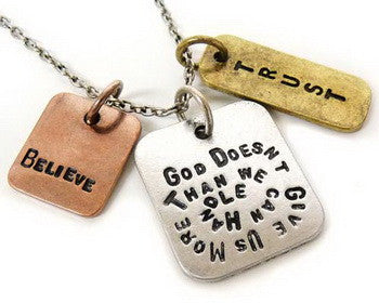 Chain Necklace, God doesn't give you more ...