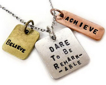 Carded Chain Necklace, Dare to be remarkable