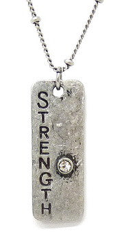 Carded Petite Chain Necklace, Strength