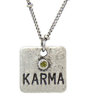 Carded Petite Chain Necklace, Karma