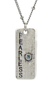 Carded Petite Chain Necklace, Fearless