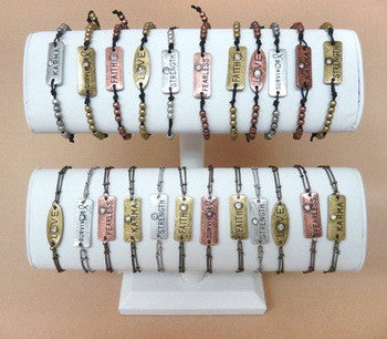 Display, 2-Tier White Bracelet Bar