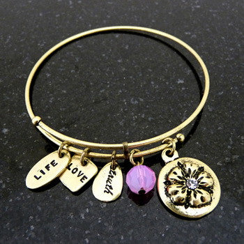 Bracelet, Love, Mom, Gold