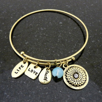 Bracelet, Love, Friend, Gold
