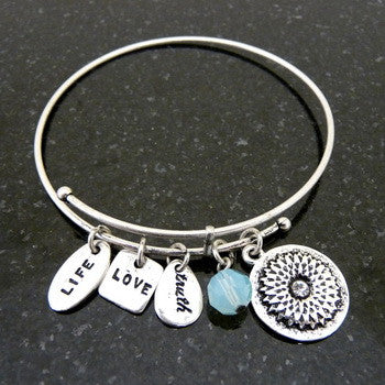 Bracelet, Love, Friend, Silver