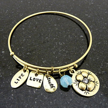 Bracelet, Love, Daughter, Gold