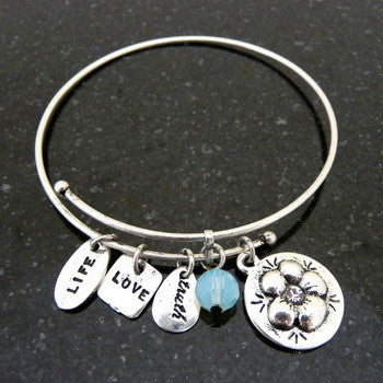 Bracelet, Love, Daughter, Silver