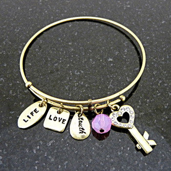 Bracelet, Love, Forever Key, Gold