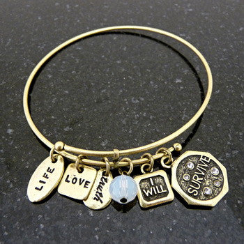 Bracelet, Empowerment, I will Survive, Gold