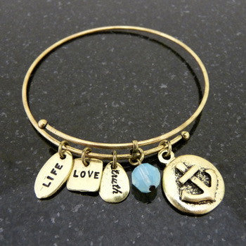 Bracelet, Faith, Anchor, Gold