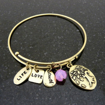 Bracelet, Faith, Tree of Life2, Gold