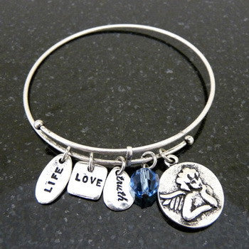 Bracelet, Faith, Angel, Silver