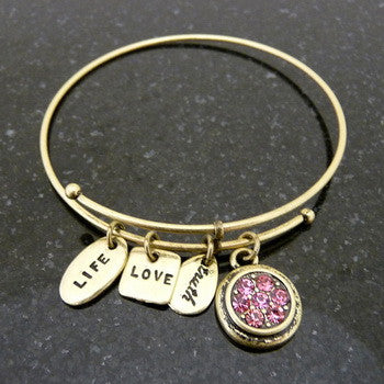 Bracelet, Birthstone, October, Gold