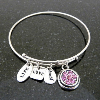 Bracelet, Birthstone, October, Silver
