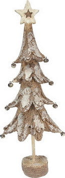 Birch Bark Christmas Tree w/8 Balls