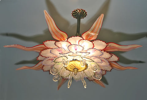 Hanging Lotus Glass Chandelier