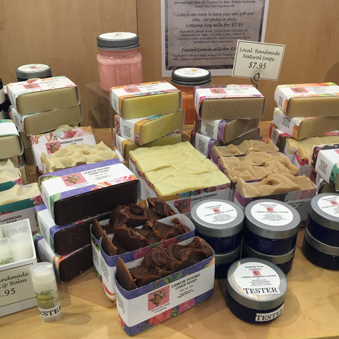 Locally Made Soaps and Lotions