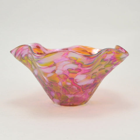 Rose Quartz Floppy Bowl by Glass Eye Studio