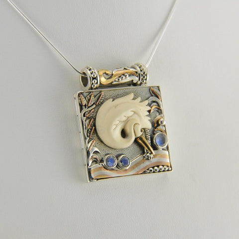 Egret Locket